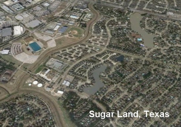 Sugar Land Birdseye View